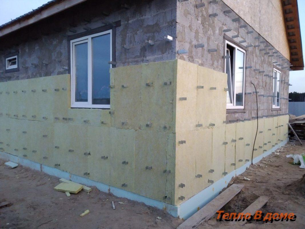Утепление стен дома снаружи базальтовым утеплителем